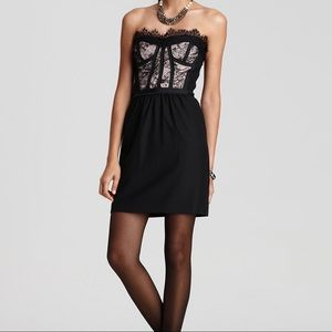 Rebecca Taylor Black Lace Bustier Combo Dress Sz 6